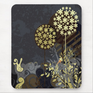 Diseño abstracto de la naturaleza tapetes de ratones