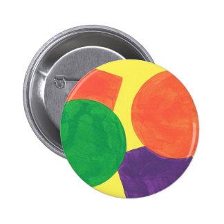Diseño abstracto de la pintura de acrílico pin redondo 5 cm
