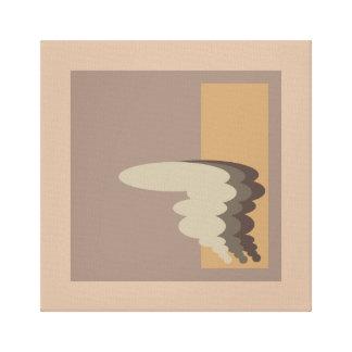 Diseño abstracto de la pintura del tornado impresiones en lona