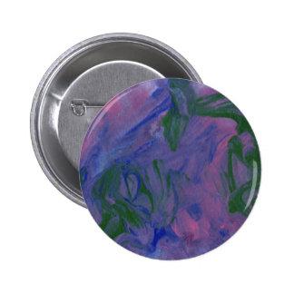Diseño abstracto de la pintura original pin redondo 5 cm