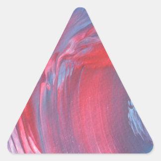 Diseño abstracto de la pintura original pegatina triangular