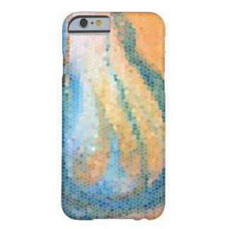 Diseño abstracto de la playa de la línea de la funda de iPhone 6 barely there