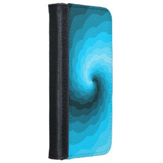 Diseño abstracto de la turquesa funda cartera para iPhone 6