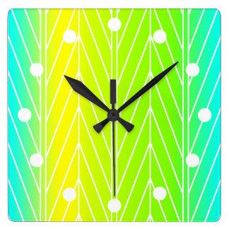 Diseño abstracto de las hojas de la planta de reloj cuadrado