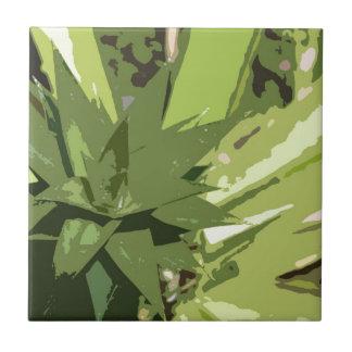 Diseño abstracto de las piñas azulejo cuadrado pequeño