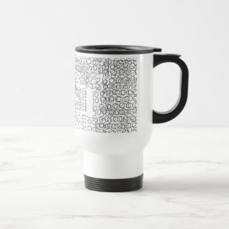 Diseño abstracto de los círculos taza de café