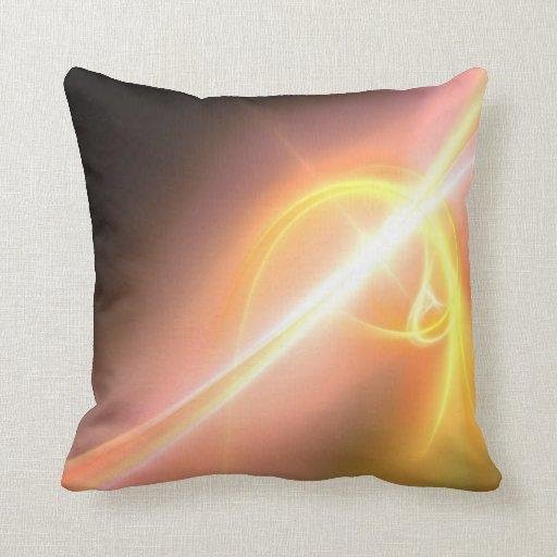 Diseño abstracto de oro amarillo del arte del frac cojin