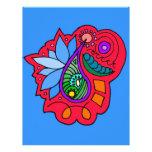 Diseño abstracto de Paisley Membrete Personalizado