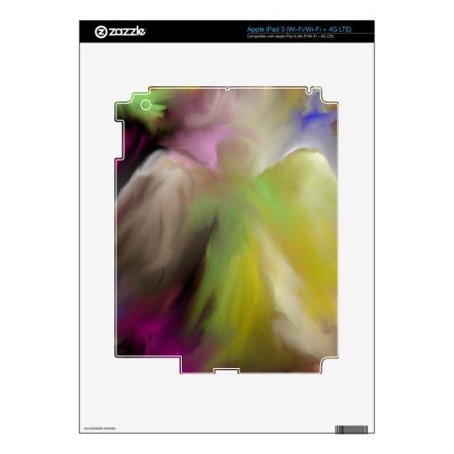 Diseño abstracto del ángel pegatina skin para iPad 3
