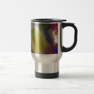Diseño abstracto del ángel taza de viaje