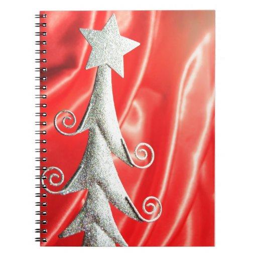 Diseño abstracto del árbol de navidad libros de apuntes