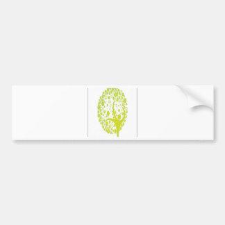 Diseño abstracto del árbol pegatina para auto