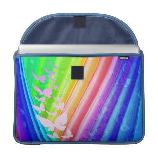 Diseño abstracto del arco iris fundas macbook pro