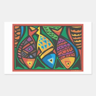 Diseño abstracto del arte de los pescados rectangular altavoz