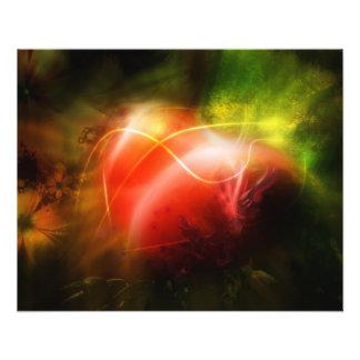 """Diseño abstracto del arte del corazón folleto 4.5"""" x 5.6"""""""