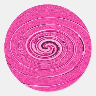 """Diseño abstracto del """"ciclón"""" de las rosas fuertes pegatina redonda"""
