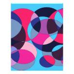 Diseño abstracto del círculo del disco membrete a diseño
