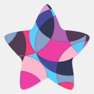 Diseño abstracto del círculo del disco pegatina en forma de estrella