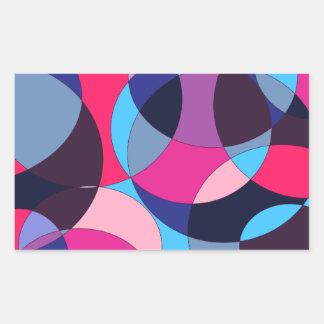Diseño abstracto del círculo del disco pegatina rectangular