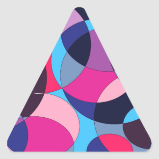 Diseño abstracto del círculo del disco pegatina triangular