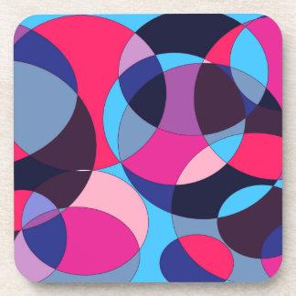Diseño abstracto del círculo del disco posavasos de bebidas