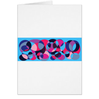 Diseño abstracto del círculo del disco tarjeta de felicitación