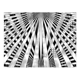 Diseño abstracto del conjunto de circuitos y del postales