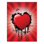 Diseño abstracto del corazón postal