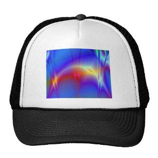 Diseño abstracto del fractal de los fuegos artific gorras de camionero
