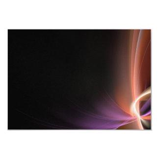 """Diseño abstracto del fractal invitación 3.5"""" x 5"""""""