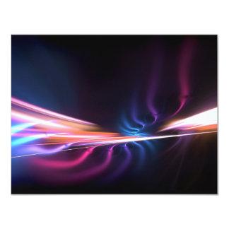 """Diseño abstracto del fractal invitación 4.25"""" x 5.5"""""""