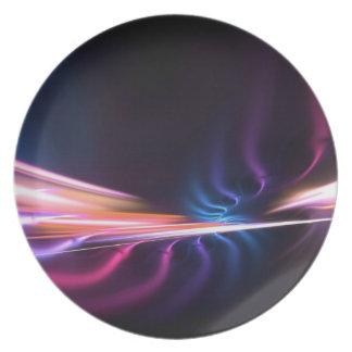 Diseño abstracto del fractal platos