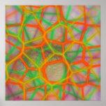 Diseño abstracto del fractal poster