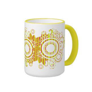 Diseño abstracto del remolino taza a dos colores