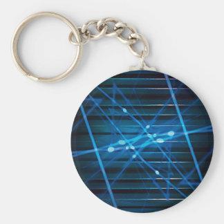 Diseño abstracto dinámico futurista llavero