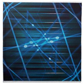 Diseño abstracto dinámico futurista servilleta