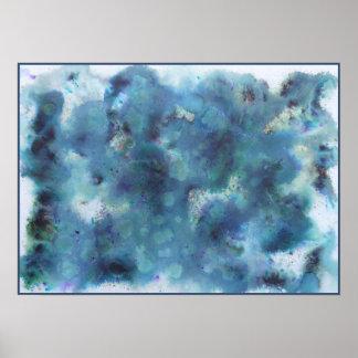 Diseño abstracto en azul posters