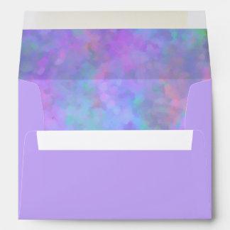 Diseño abstracto en azul rosado púrpura sobre