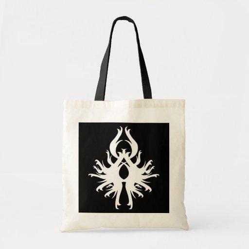 Diseño abstracto en blanco bolsas de mano