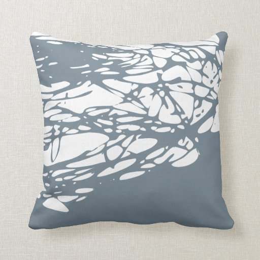 Diseño abstracto en gris y blanco cojín decorativo