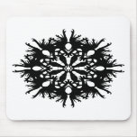 Diseño abstracto en negro tapetes de ratones