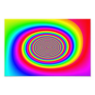 Diseño abstracto espiral del arco iris cojinete