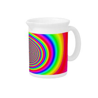 Diseño abstracto espiral del arco iris jarrón