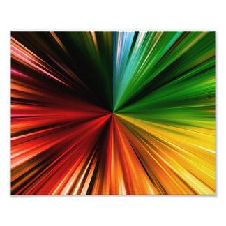 Diseño abstracto estallado arco iris colorido del  fotografía