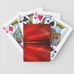 Diseño abstracto futurista barajas de cartas