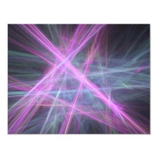 """Diseño abstracto futurista del fractal invitación 4.25"""" x 5.5"""""""