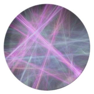 Diseño abstracto futurista del fractal platos