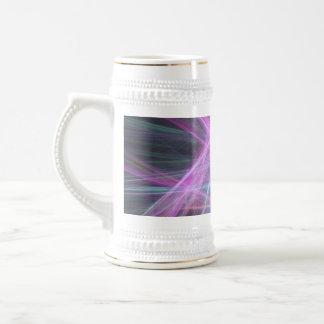 Diseño abstracto futurista del fractal taza de café
