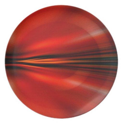 Diseño abstracto futurista platos