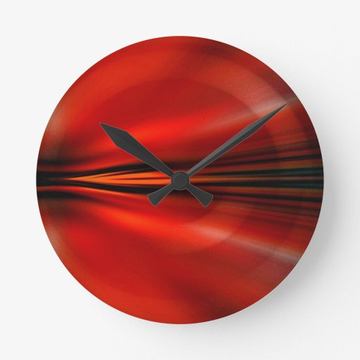 Diseño abstracto futurista reloj redondo mediano